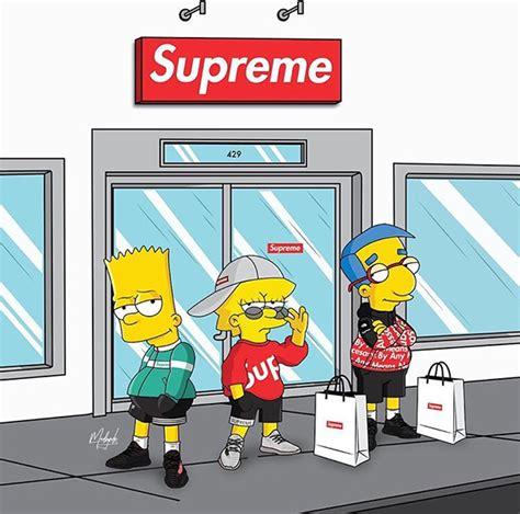 Bart Simpsons X Supreme supreme x on behance
