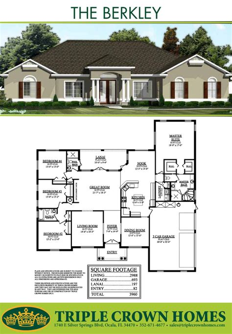 crown homes floor plans the berkley triple crown homes