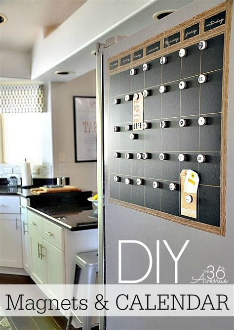make out room calendar the 36th avenue diy chalkboard magnetic calendar the