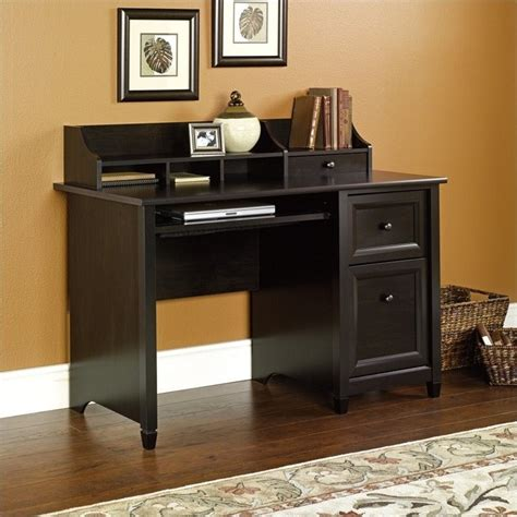 Sauder Edge Water Desk by Computer Desk In Estate Black 409043