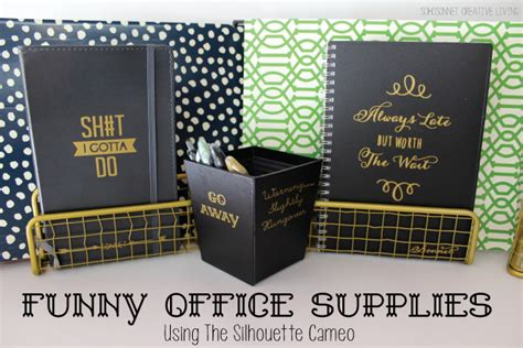8 Hilarious Office Supplies by Office Supplies Silhouette Cameo Project Free