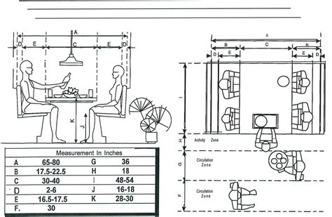 booth design criteria seating dimensions booth seats interiors standards