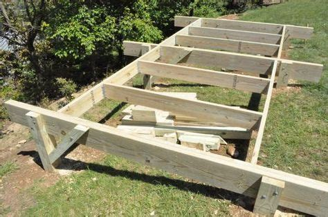 build  post beam shed foundation   slope