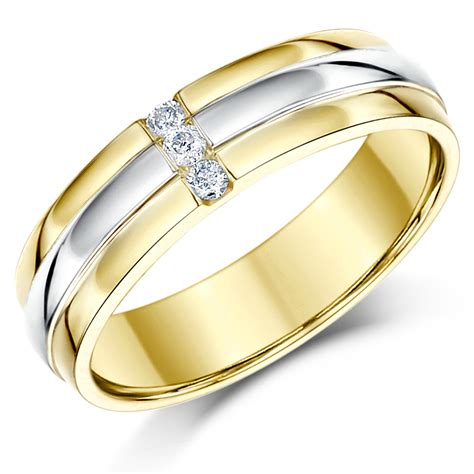 5mm Wedding Ring by 5mm 9ct Two Coloured Gold Wedding Ring Band Two