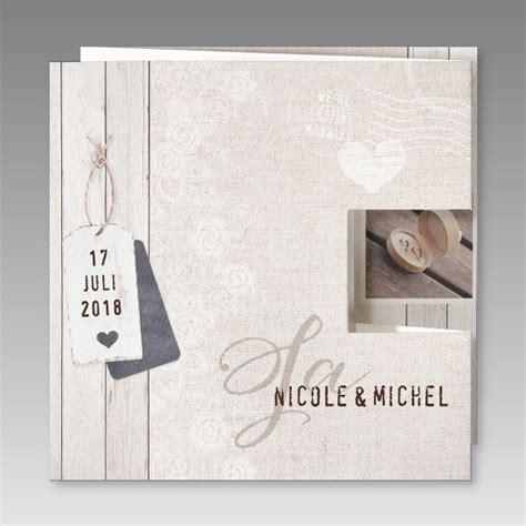 Preiswerte Hochzeitseinladungen by G 252 Nstige Hochzeitseinladung In Leinenoptik