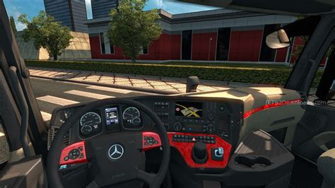 download mod game ets red interior for mercedes actros mp4 ets 2 mods