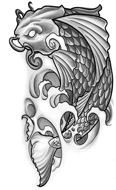 celtic pisces tattoo designs black and grey koi fish designs elaxsir