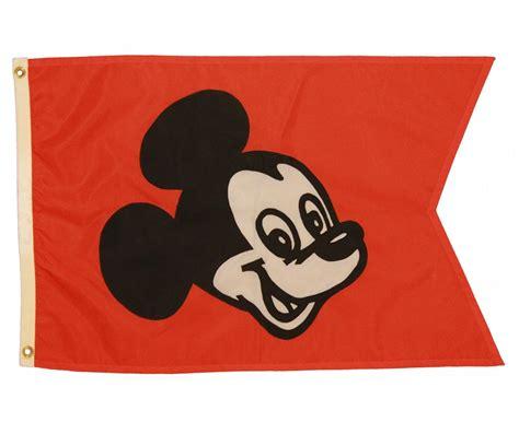 Banner Flag Mickey Segitiga Merah Bunting Flag Mickey Segitiga Merah 1970s disneyland station mickey mouse entrance flag