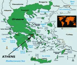 athens on map maps of athens