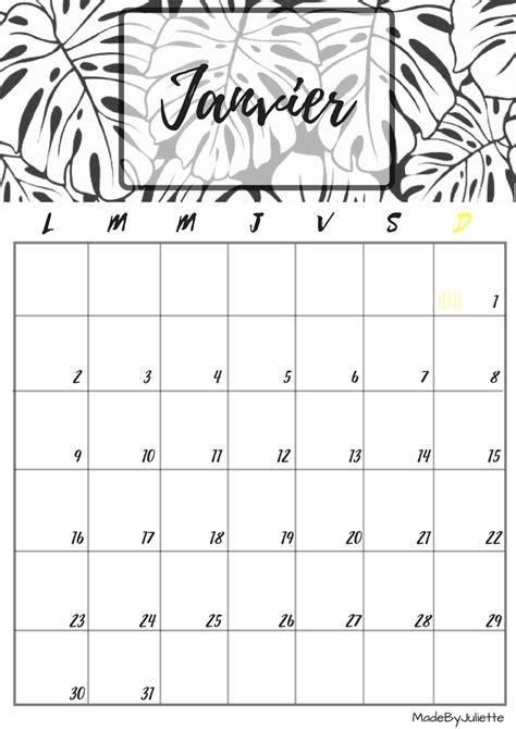 calendrier janvier 2017 224 imprimer calendriers