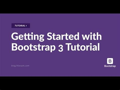 tutorial bootstrap youtube tutorial 1 getting started with bootstrap 3 youtube