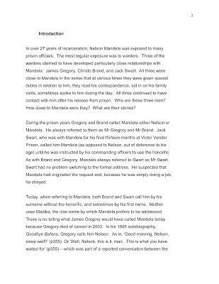 Nelson Mandela Essay by The Last Warder Nelson Mandela Centre Of Memory