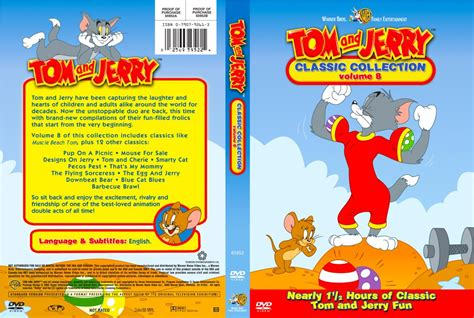 Dvd Tom Jerry Classic Collections tom and jerry classic collection volume 08 tv dvd custom covers tom and jerry classic