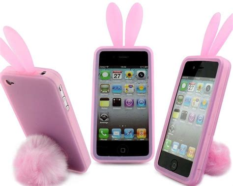 Iphone Casing Panda Black White Rabbit Pink Bunny 6 7 8 X pink bunny rabbit rubber skin ear fur for apple iphone 4s 4 4g new ebay
