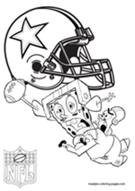 spongebob nfl coloring pages dallas cowboys coloring pages