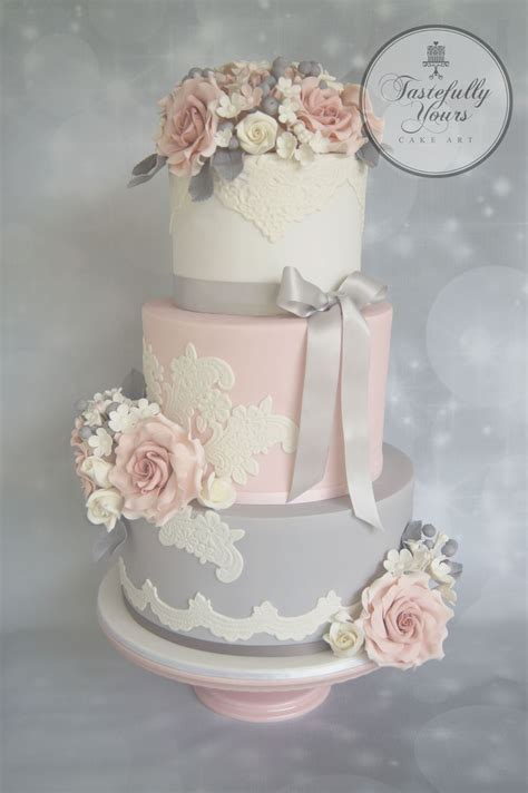 grey and pale pink wedding 360 best images about pink wedding cakes on