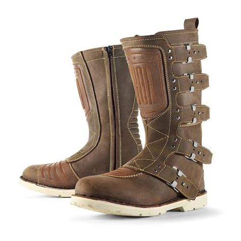 mens tan motorcycle boots icon 1000 elsinore boots revzilla