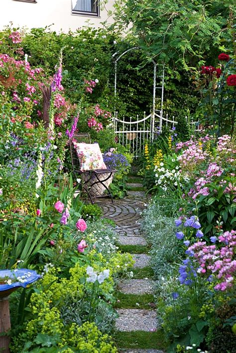 cottage garden patio gap gardens small cottage garden with metal chair and