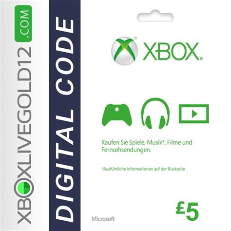 20 Xbox One Gift Card - microsoft gift card 5 pound xbox one 360 xboxlivegold12 com