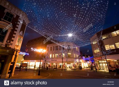 christmas lights in gravesend kent stock photo royalty