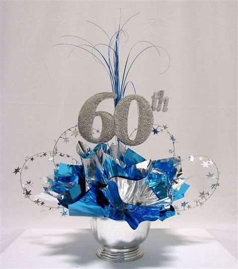 birthday centerpieces for tables 60th milestone centerpiece pinteres