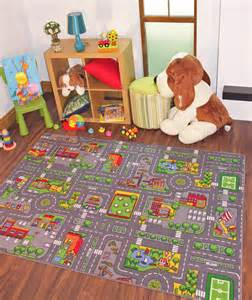 Kid Rug Children S Rugs Town Road Map City Rug Play Mat For Boys New Ebay