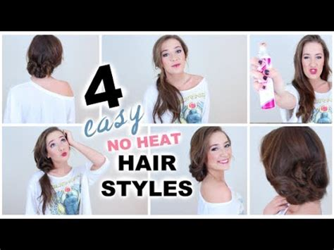 Easy No Heat Hairstyles by 4 Easy No Heat Hairstyles