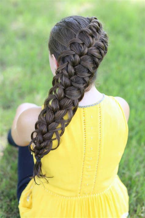 braided hairstyles cgh diagonal french loop braid cute braid hairstyles cute