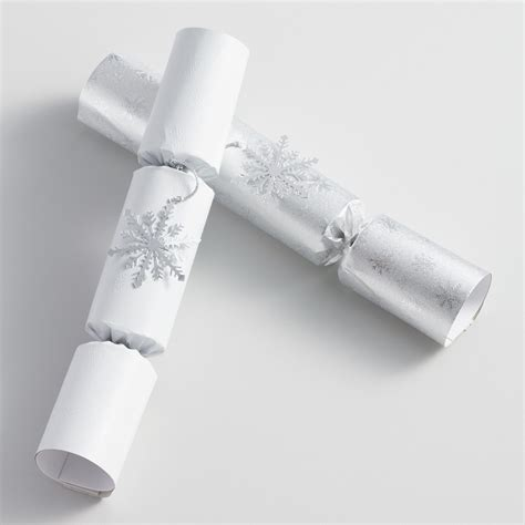 10 quot silver snowflake christmas crackers 8 count world market