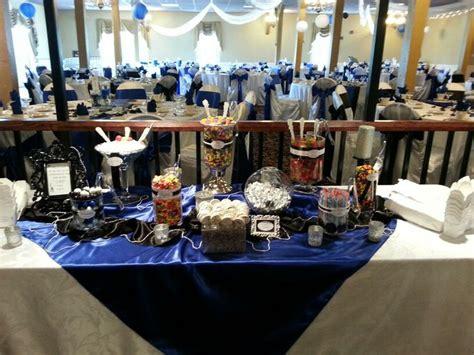 royal blue and black buffet candy buffet ideas pinterest