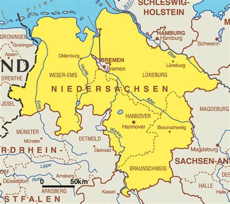saxony germany map map of lower saxony niedersachsen worldofmaps net