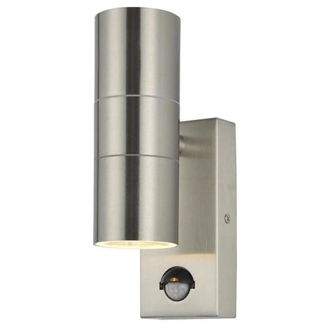 up and lights with sensor kenn 2 light outdoor up and wall light with pir