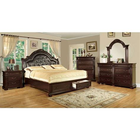 baroque bedroom set scottsdale baroque style brown cherry finish 6 piece bedroom set bedroom sets 24 7