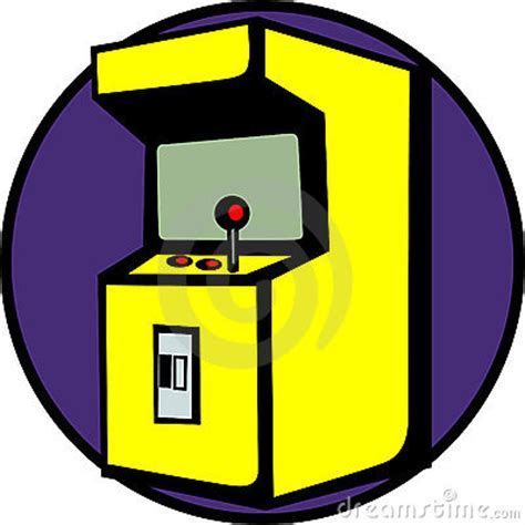 Mr Armchair Videogame Arcade Machine Vector Illustration Royalty Free