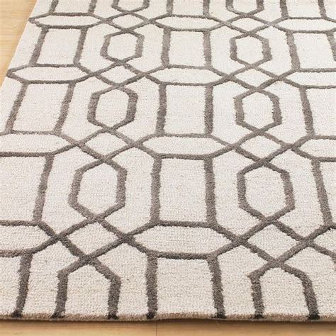 lattice grey rug plush wool and silk modern lattice rug grey or gre possibly dining room or great room
