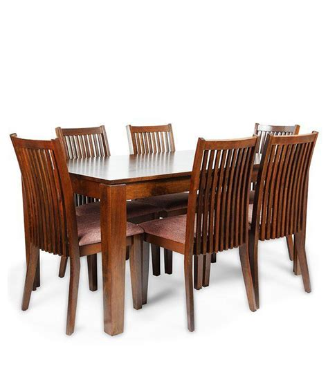 6 Seater Wooden Dining Set In Melamine Finish Buy 6 Seater Wooden Dining Set In Melamine Sheesham Wood 6 Seater Dining Set In Honey Finish Buy Rs 32389 Snapdeal