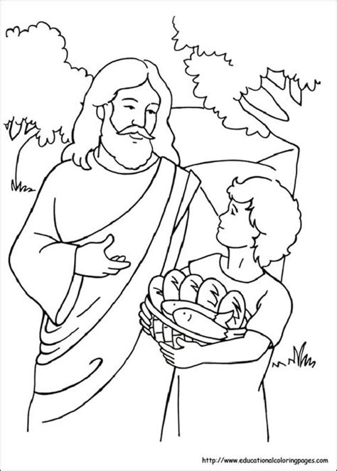 coloring pages of fish and bread 5 loaves and 2 fish coloring pages bible pinterest