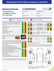 multi point vehicle inspection forms 2 part imprinted