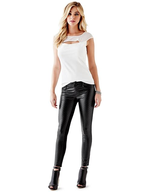 Guess Lorex Leahter lovely in leather elizabeth turner in leather
