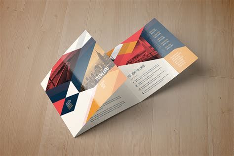 Vintage Square Trifold Brochure Brochure Templates On Creative Market Square Trifold Brochure Template