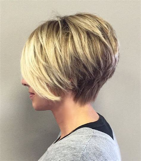 short stacked haircuts for fine hair that show front and back best 25 long stacked haircuts ideas on pinterest