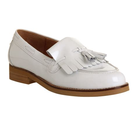 womens white loafers womens office extravaganza loafer white patent leather