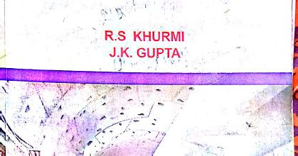 civil engineering conventional and objective type by r s khurmi and j k gupta pdf civil