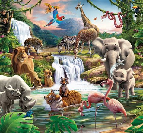 jungle mural wall murals