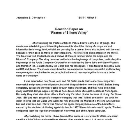 write a reaction paper reaction paper on of silicon valley bill gates