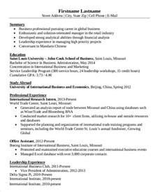 international resume template simple business resume templates 19 free word pdf