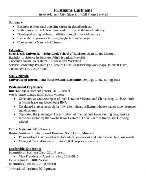 15 simple business resume templates pdf doc free