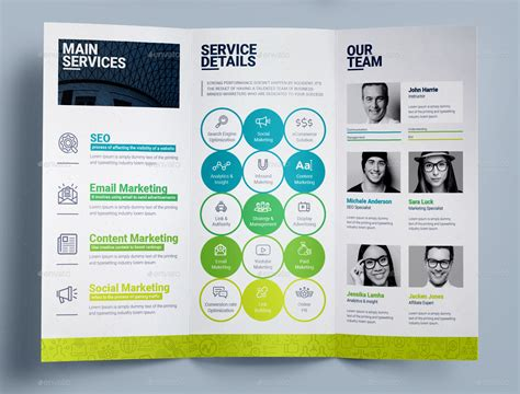marketing brochure tri fold brochure template for seo search engine