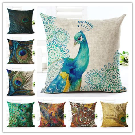 peacock feather home decor fashion style high quality home decor cushion cover