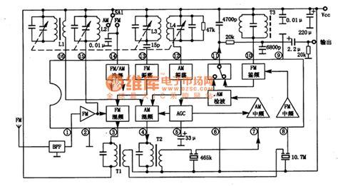 fm radio integrated circuit ta8164p am fm former stage radio integrated circuit basic circuit circuit diagram seekic